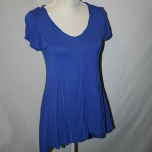 Assymetric Hem Tunic Top Size Small